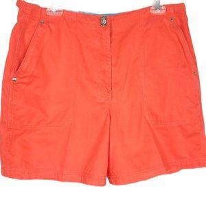 LRL Lauren Ralph Lauren Orange Shorts Size…